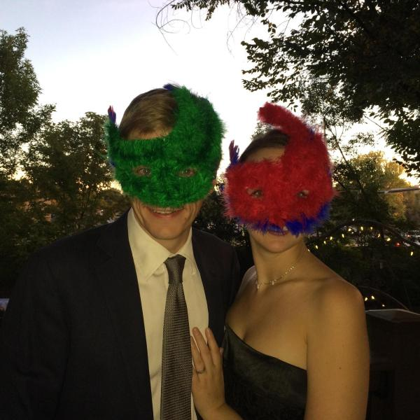 Eclectus masks--we're only missing the vibrantly colored beaks!